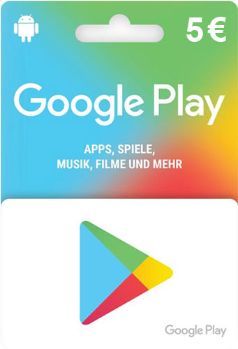 Google PlayStore  Pin   5 Euro DE Code als pdf. Verkauf erfolgt im Namen u. auf Rechnung des Gutscheinausstellers