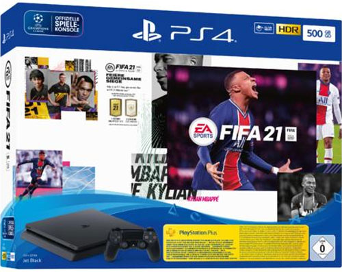 Sony  PS4 500GB SLIM  + Fifa 21 black CUH-2216A F-Chassis UN 3481 Li-ion batteries contained in equipment