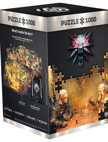 Puzzle Witcher Playing Gwent 1000 Teile