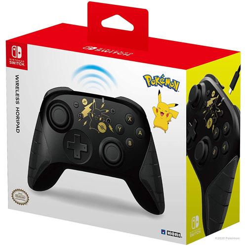 Switch Controller Horipad Pikachu black & gold  wireless  HORI