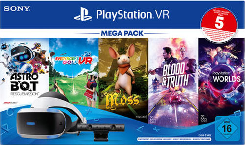 PS4  VR Mega Pack 3 + Kamera + 5 Games CUH-ZVR2