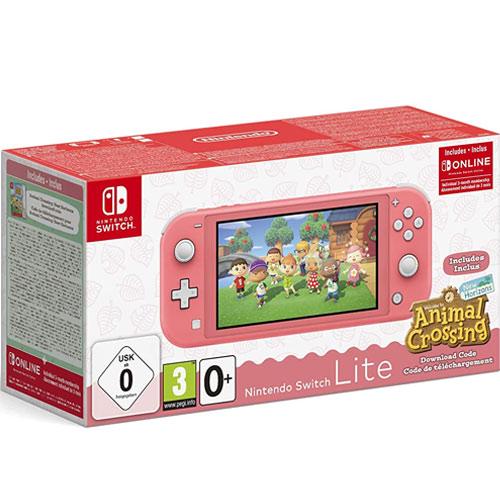 Switch   Konsole  Lite  Koralle + Animal Crossing New Horizons inkl. 3 Monate