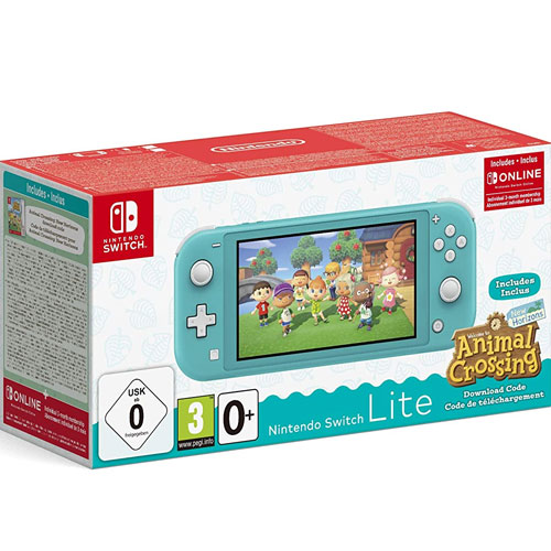 Switch   Konsole  Lite  Türkis + Animal Crossing New Horizons  inkl. 3 Monate