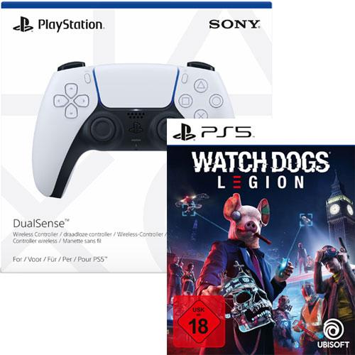 PS5  Controller DualSense  weiß + WDLeg. BUNDEL