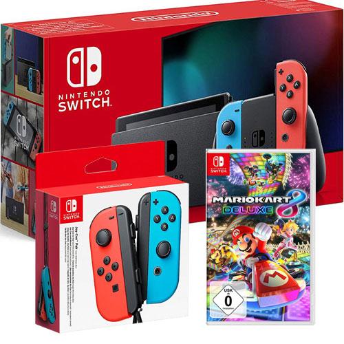 Switch   Konsole neonrot V2 + JC + MK8 Nintendo