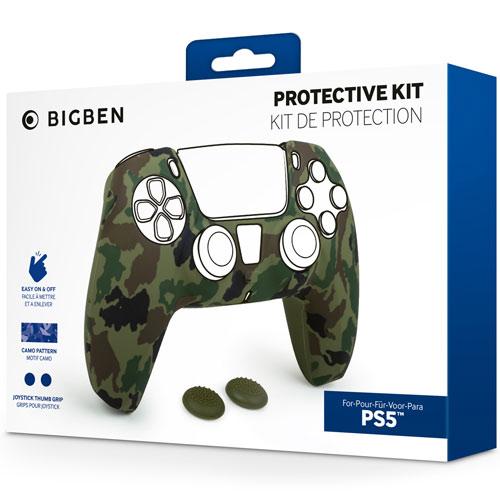 PS5 Controller Silicon Glove  BigBen 2 Grips  green/Camo