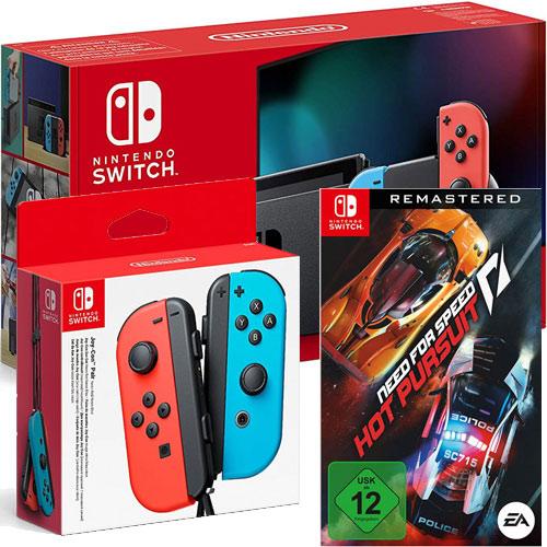 Switch   Konsole neonrot V2 + JC + NFSHP Nintendo