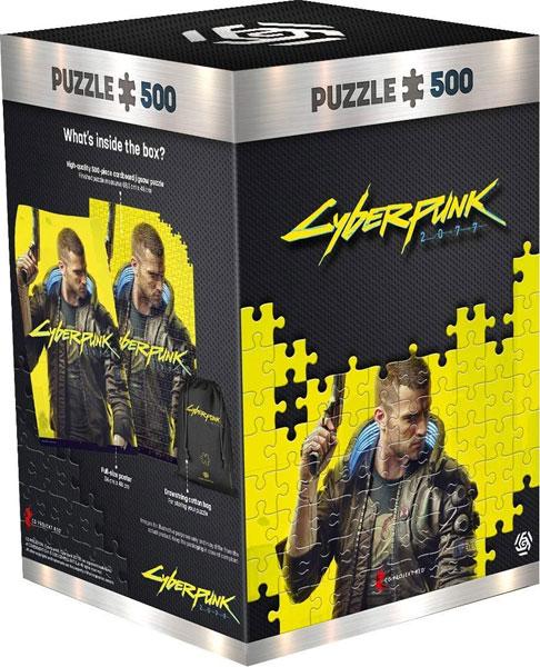 Puzzle Cyberpunk 2077 Keyart Male V 500 Teile