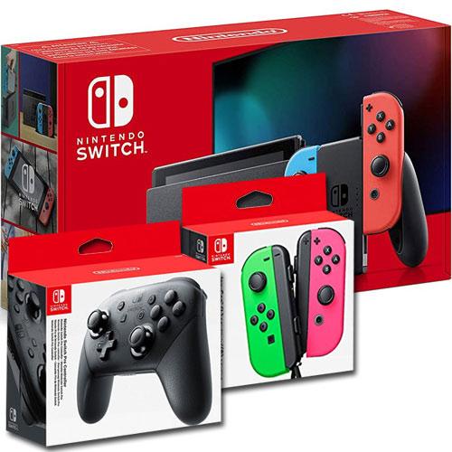 Switch   Konsole neonrot V2 + JCg/p +Pro Nintendo