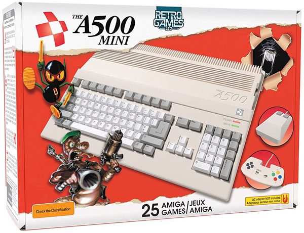 AMIGA Retro - A500 Mini (INT) Retro Konsole incl. 25 Amiga-Spiel