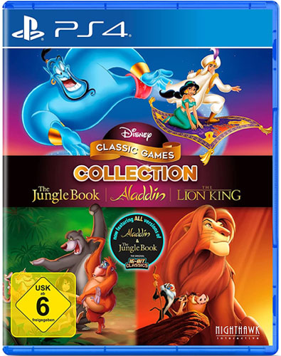 Disney Classic Collection #2  PS-4 Aladdin,Lion King,Jungle Book