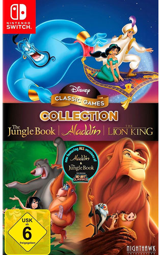 Disney Classic Collection #2  Switch Aladdin,Lion King,Jungle Book