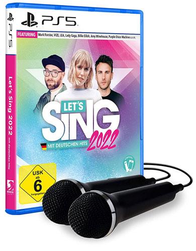 Lets Sing 2022  PS-5 + 2 Mics mit deutschen Hits